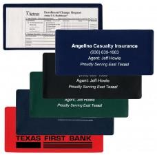 "Insurance Card Holders - 9-1/4""(W) x 4-1/4""(H) - Opens on Long Side"