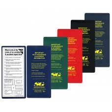 "Insurance Card Holder ""Important Auto Insurance"" Kits - 9-1/4""(W) x 4-1/4""(H)"