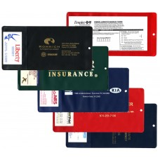 """Insurance Card Holders - 9-3/4""""(W) x 4-3/4""""(H) - with Business Card Pocket - Opens on Short Side"""