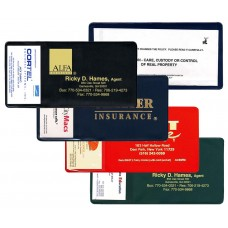 """Insurance Card Holders - 7-3/4""""(W) x 4""""(H) - with Business Card Pocket - Opens on Short Side"""
