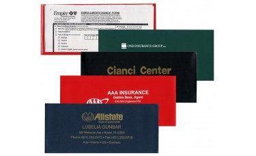 """Insurance Card Holders - 9-1/8""""(W) x 4""""(H) - Opens on Long ..."""