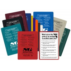 """Insurance Card Holders """"At The Scene"""" Kits - 5-3/4""""(W) x 4-1/16""""(H)"""