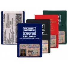 """Insurance Card Holders - 5-3/4""""(W) x 4-1/16""""(H) - with Extra Pocket - Opens on Short Side"""