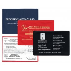 """Insurance Card Holders - 6-1/4""""(W) x 4-3/8""""(H) - Opens on Short Side - New York State"""