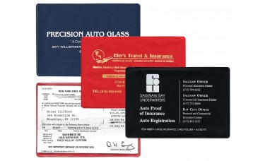 """Insurance Card Holders - 6-1/4""""(W) x 4-3/8""""(H) - Opens on ..."""