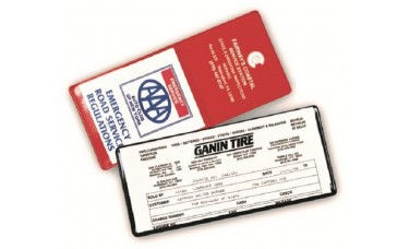 """Insurance Card Holders - 9""""(W) x 4""""(H) - with Half Pocket - Opens on Long Side (Fits PA Registration)"""