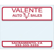 Report of Sale Stickers California
