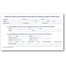 Customer Lead Cards (Package of 100)
