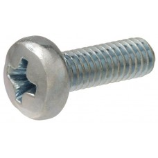 M6 x 16mm Metric Phillips Pan Head License Plate Screws (Box of 100)