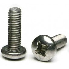 M5 x 0.8mm x 8mm Metric Phillips Pan Head License Plate Screws (Box of 100)