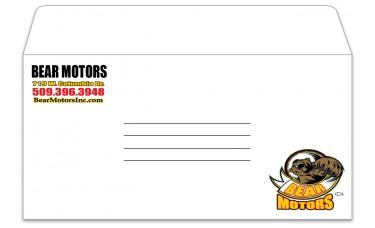 Custom Moist Seal White License Plate Envelopes