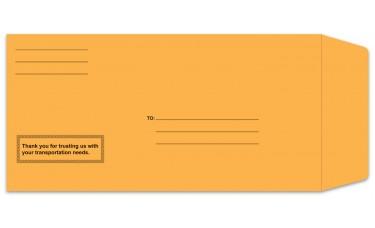 Preprinted Self Seal Brown Kraft License Plate Envelopes (Package of 100)