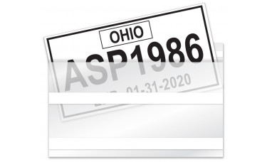 License Plate Plastic Protector Bags with Adhesive (Package of 100)
