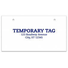 Custom 10 Mil 5-Day Paper Temporary Tags (Package of 500)