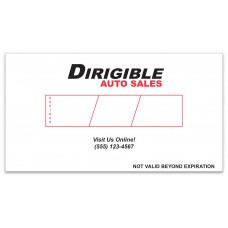 Custom 8 Mil Paper Temporary Tags (Package of 500)