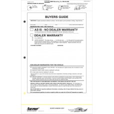 Seal 4 Buyers Guide Labels - As Is Warranty (Package of 100)