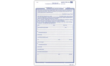 Odometer Disclosure Statements (Package of 250)