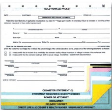 Sold Vehicle Combination Forms (Package of 100)