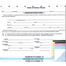Trade In Vehicle Combination Forms (Package of 100)