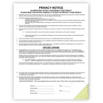 Privacy Notice Forms
