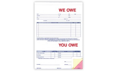 We Owe You Owe Forms (Package of 100)