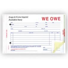 We Owe Forms - Custom (Package of 500)