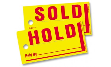 Sold/Hold Tags - Jumbo Size (Box of 250)
