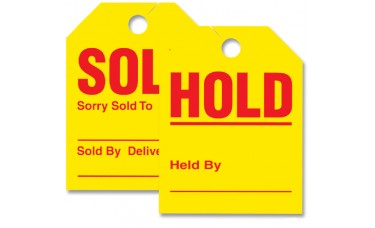 Sold/Hold Mirror Hang Tags (Package of 50)