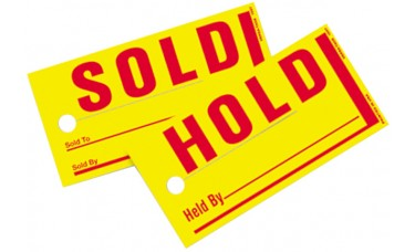 Sold/Hold Tags - Standard Size (Package of 250)