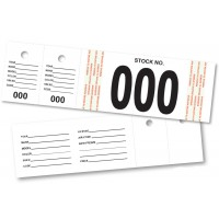 Vehicle Stock Number Tags (Package of 500)