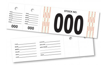 Combination Identification Sticker with Two Stock Tags (Package of 500)