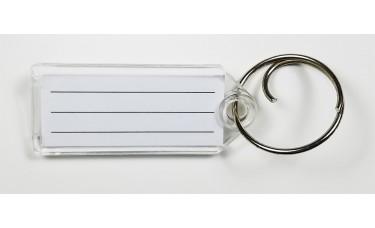 Durable Slip Slot Plastic Key Tags - Front