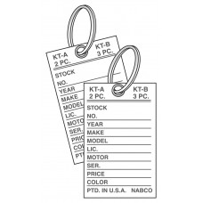 Mini Paper Key Tags with Rings by Nabco (Package of 500)