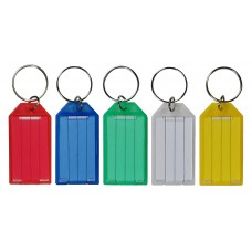 "Plastic Snap ""Slip Slot"" Key Tags (Package of 100)"