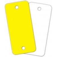 Blank Round Cornered Poly Key Tags (Box of 250)
