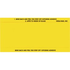 Stock Mini Number Signs - 3 in. x 6 in. - Yellow (Package of 250)
