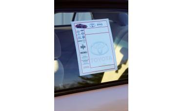 Custom Printed Laser Window Stickers (Package of 250)