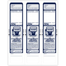 "Custom ""Clear Back"" Dealership Laser Window Labels - 3 Up (2-3/4"" x 11"") (Package of 50)"