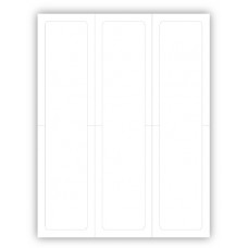 """Blank Paper-Backed Dealership Laser Window Labels - 3 Up (2-3/4"""" x 11"""") (Package of 50)"""
