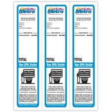 "Custom Full Color Digital Paper-Backed Dealership Laser Window Labels - 3 Up (2-3/4"" x 11"") (Package of 50)"
