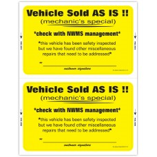 "Custom ""Clear Back"" Dealership Laser Window Labels - 2 Up (5-1/2"" x 8-1/2"") (Package of 50)"