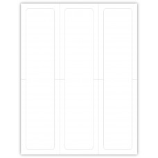 """Blank Outdoor Application Dealership Laser Window Labels - 3 Up 2-3/4"""" x 11"""" (Package of 100)"""