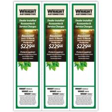 "Custom Full Color Digital Outdoor Application Dealership Laser Window Labels - 3 Up 2-3/4"" x 11"" (Package of 100)"