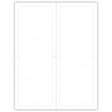 """Blank Outdoor Application Dealership Laser Window Labels - 2 Up 4-1/4"""" x 11"""" (Package of 100)"""