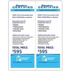 "Custom Full Color Digital Outdoor Application Dealership Laser Window Labels - 2 Up 4-1/4"" x 11"" (Package of 100)"