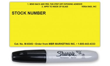 "Stock Number Signs 3"" x 6"" (Box of 250)"