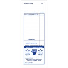 """Blue Paper-Backed Dealership Addendum Stickers - 4-1/4"""" x 11"""" (Package of 100)"""