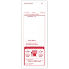 """Red Paper-Backed Dealership Addendum Stickers - 4-1/4"""" x 11"""" (Package of 100)"""
