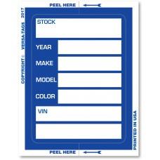 "Extra Large KLR-BAK ""Clear Back"" Window Sticker Tickets (Package of 100)"