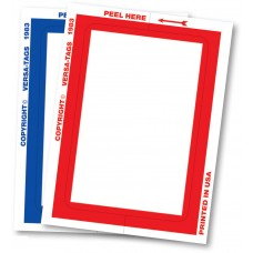 """""""Clear Back"""" Stickers - Blank with Border - 3"""" x 4"""" (Package of 100)"""